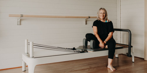 Liz Court with Pilates reformer